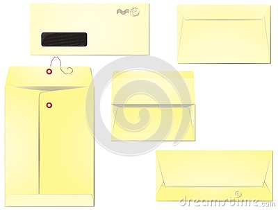 Blank envelopes isolated