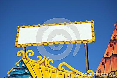 Blank fair sign