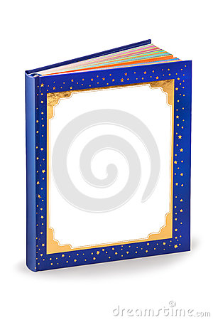 Blank fairytale book cover - clipping path