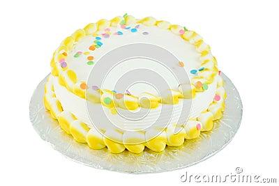 Blank festive cake
