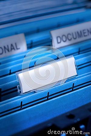 Blank File In Filing Cabinet