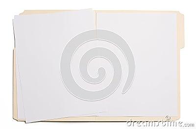 Blank file folder
