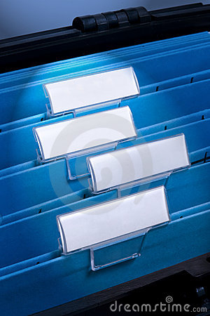 Blank Files In Filing Cabinet