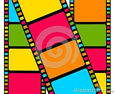 Blank film colorful strip
