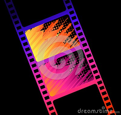 Blank film colorful strip
