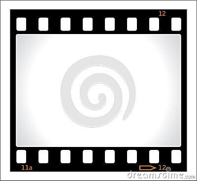 Blank film negative