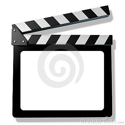 Free Blank Film Slate Or Clapboard Royalty Free Stock Images - 20875119