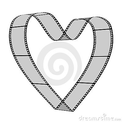 Free Blank Filmes Heart Royalty Free Stock Photo - 5235355