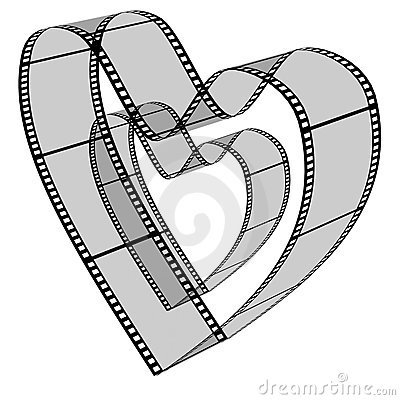 Free Blank Filmes Heart Royalty Free Stock Photos - 5235358