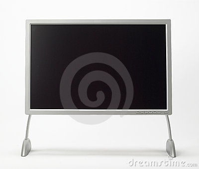 Blank flat-screen monitor