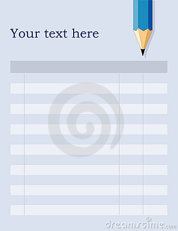 Blank Form, Blue Background