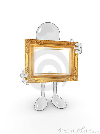Free Blank Frame Character Stock Image - 9793271