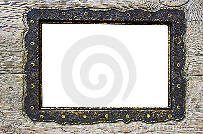 Blank frame on obsolete wood