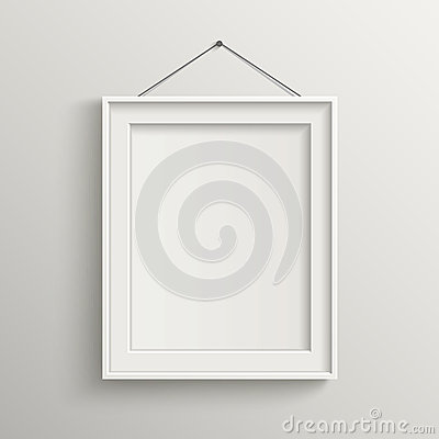 Free Blank Frame On White Wall With Shadow Royalty Free Stock Image - 40744786