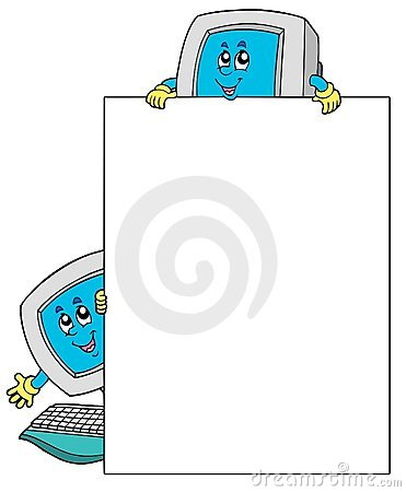 Blank frame with two computers