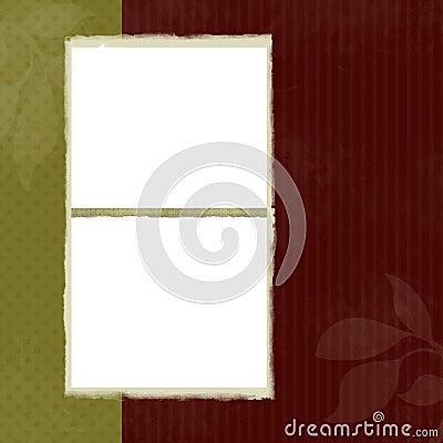 Blank Frames on Decorative Background