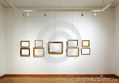 Blank frames in a gallery
