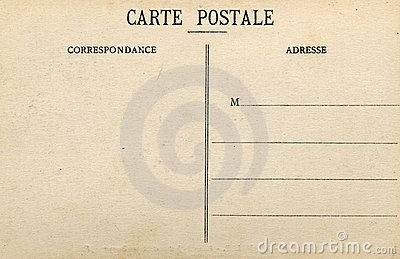 Blank French Postcard