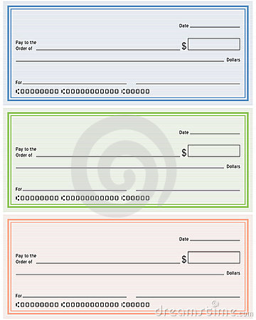 Blank Generic Bank Checks Royalty Free Stock Image - Image: 15084276