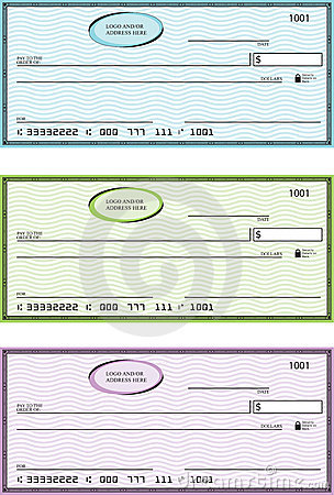 Blank Generic Bank Checks Stock Images - Image: 8141894