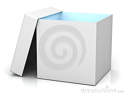 Blank gift box with lid