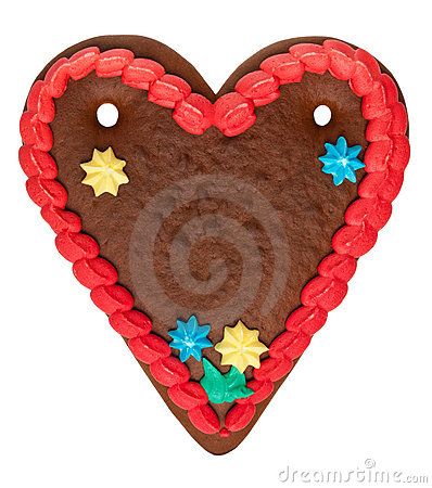 Free Blank Gingerbread Heart Royalty Free Stock Images - 16988669