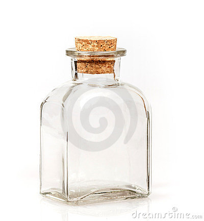 Free Blank Glass Bottle With Cork Stopper Stock Photography - 24200562