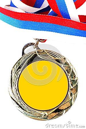 Blank gold medal