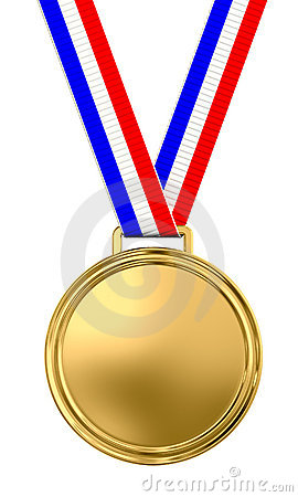 Free Blank Gold Medal Royalty Free Stock Photos - 12454398