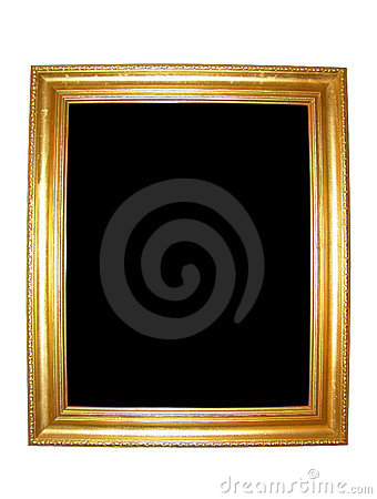 Free Blank Gold Picture Frame Stock Photos - 5236053