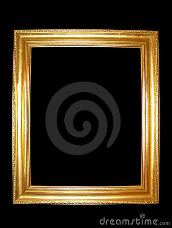 Free Blank Gold Picture Frame Stock Image - 5236141