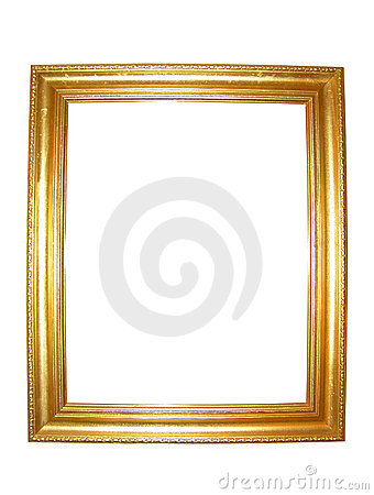 Free Blank Gold Picture Frame Stock Image - 5236221