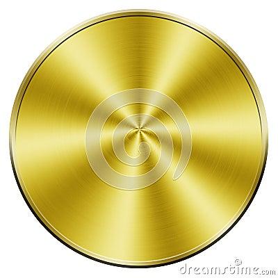 Blank golden coin