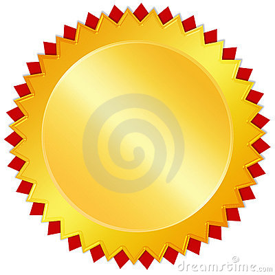 Blank golden medal