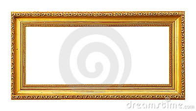 Blank Golden Picture Frame