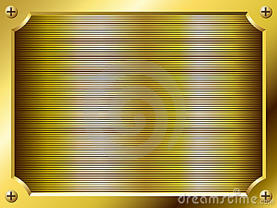 Blank golden plate