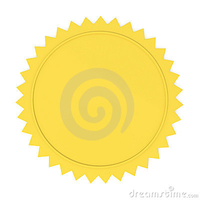 Blank Golden Seal
