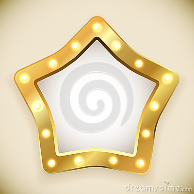Blank golden star frame