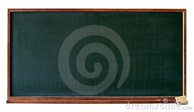 Blank green blackboard cutout