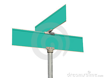 blank green street signs royalty free stock photos image