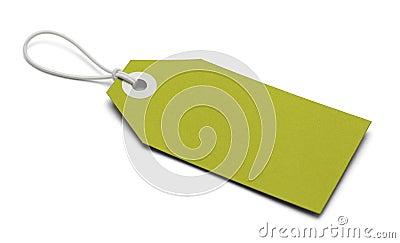 Blank Green Tag