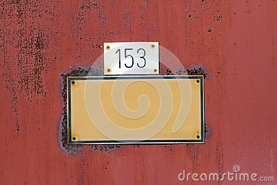 Blank grungy sign