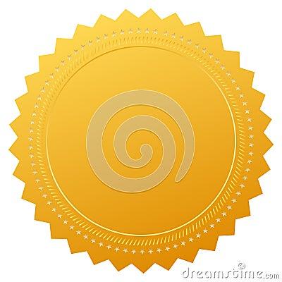 Blank guarantee certificate seal