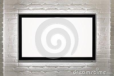 Blank HD TV at the wall