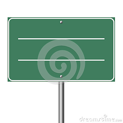 Blank highway sign