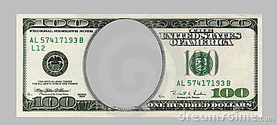 Blank hundred dollars bank note CLIPPING PATCH included. Great ...
