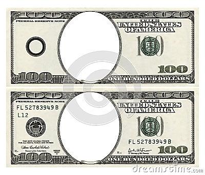 Blank hundred dollars