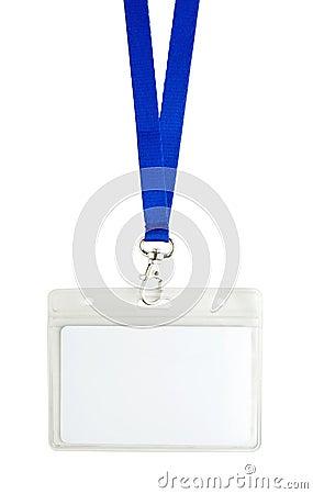 Blank identification card
