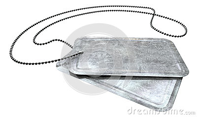 Blank Identity Dog Tags Perspective