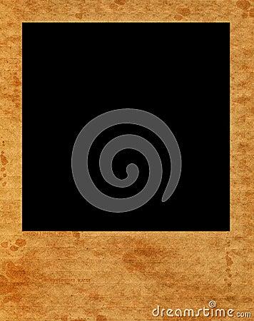 Blank instant film frame